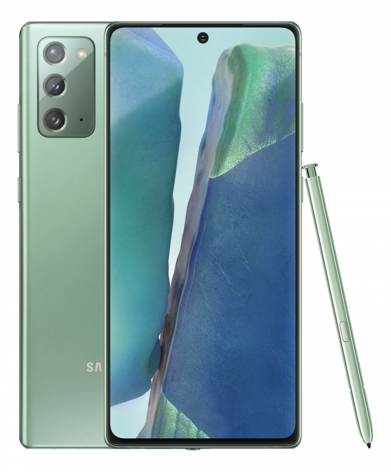 Samsung Galaxy Note20, Mystic Green.