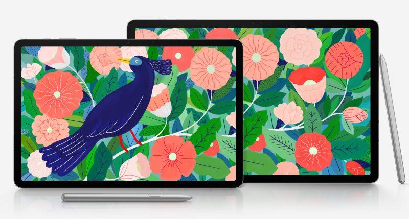 Samsung Galaxy Tab S7 ja S7+.