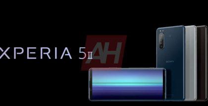 Sony Xperia 5 II eri väreissä AndroidHeadlinesin vuotamassa kuvassa.