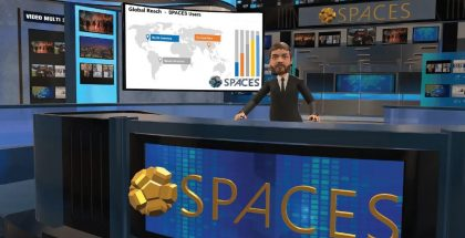 Spaces oli kehittänyt erilaista virtuaalitodellisuuden teknologiaa.