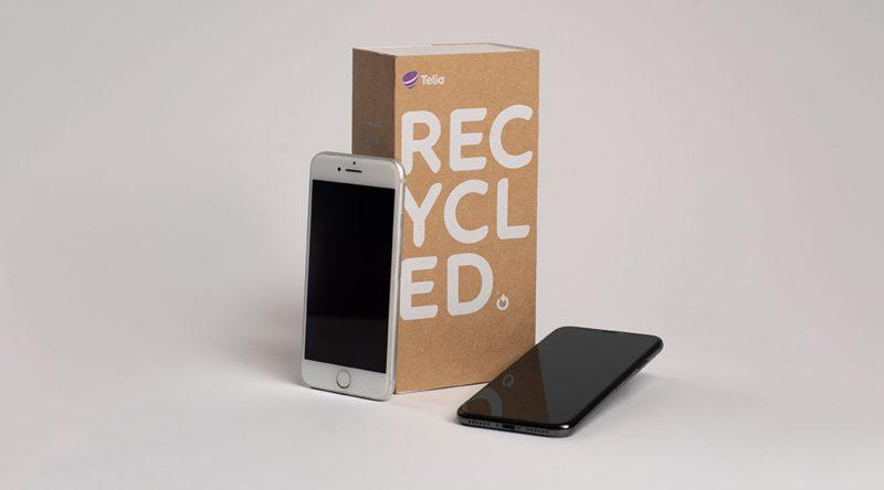Telia on nimennyt myymänsä käytetyt älypuhelimet Telia Recycled -brändin alle.