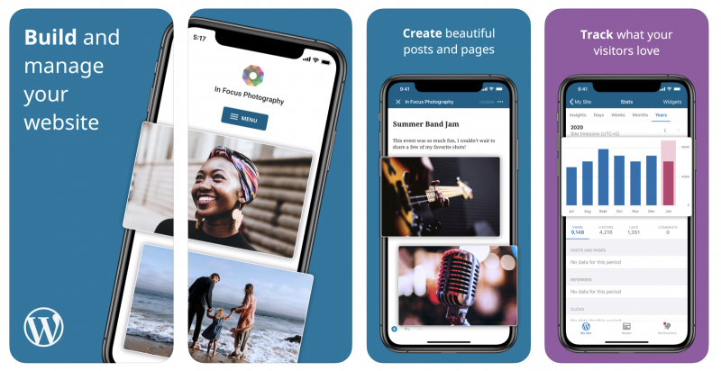 WordPress-sovellus iPhonelle.