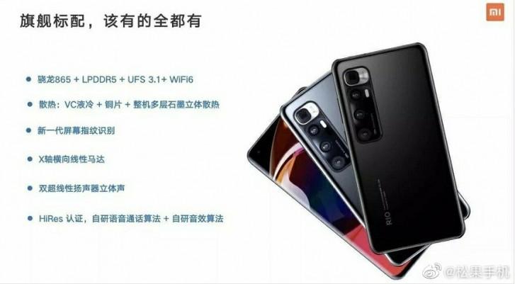 Xiaomi Mi 10 Ultra saattaa näyttää takaa tältä.