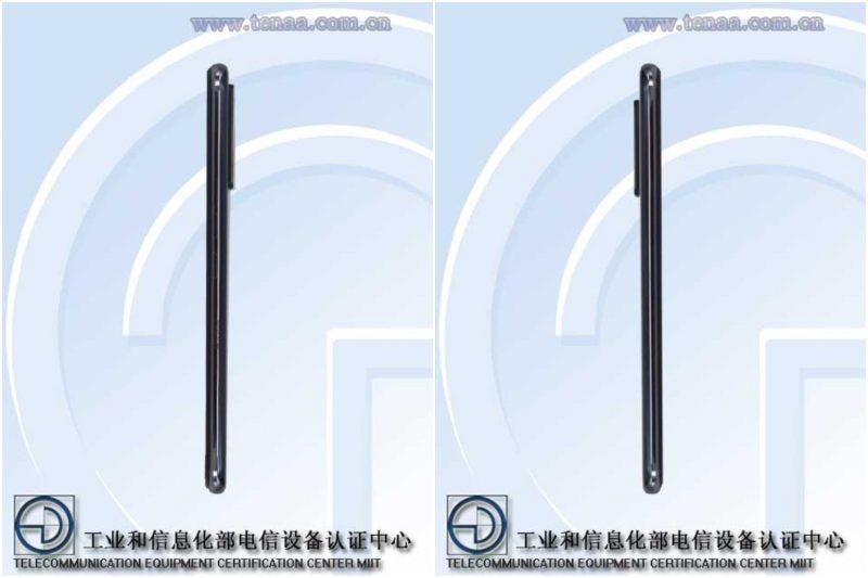 ZTE A20 5G, Kiinan TENAA-viranomaisen kuvissa.