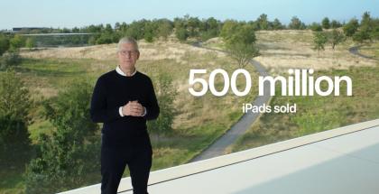 Applen toimitusjohtaja Tim Cook kertoi Applen myyneen toistaiseksi yli 500 miljoonaa iPadia.