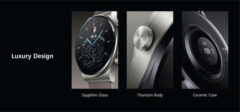 Huawei Watch GT 2 Pron yksityiskohtia.