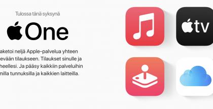 Apple One yhdistää Applen palvelut yhteen tilaukseen.