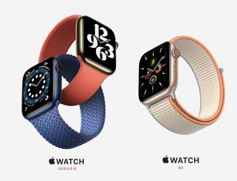 Apple Watch Series 6 ja Apple Watch SE.
