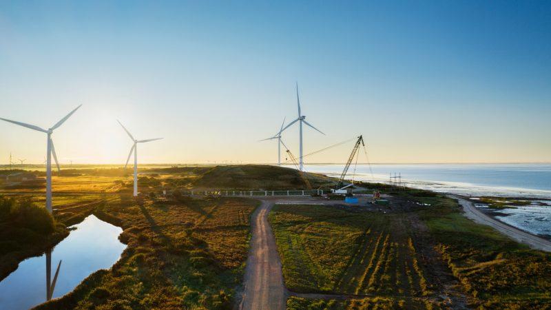 Applen rahoittama tuulivoimalapuisto Esbjergissä.