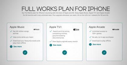 Brittioperaattori EE:n uusi liittymäpaketti sisältää kattavasti myös Apple-palvelut.