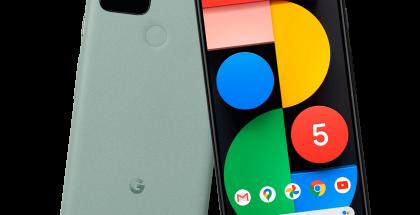 Google Pixel 5 mintunvihreänä. Kuva: Evan Blass / evleaks.