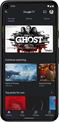 Uusi Google TV -sovellus Androidille.