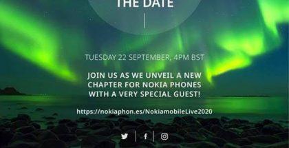 HMD Global kertoi tulevasta Nokia-puhelinjulkistuksesta 22. syyskuuta.