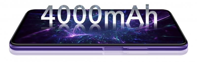 Honor 9X Prossa on suuri 4 000 milliampeeritunnin akku.