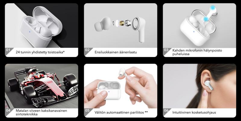 Honor Choice True Wireless Earbuds -kuulokkeet tarjoavat kattavat ominaisuudet.