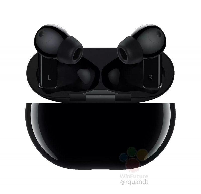 Huawei FreeBuds Pro -kuulokkeet mustana. Kuva: WinFuture.de.