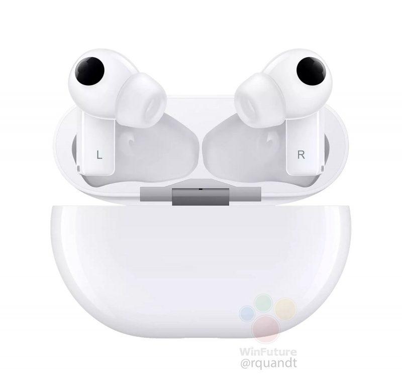 Huawei FreeBuds Pro -kuulokkeet valkoisena. Kuva: WinFuture.de.