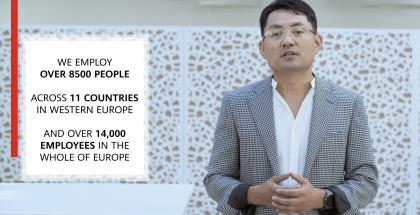 Huawein kuluttajaliiketoiminnan Euroopan johtaja Walter Ji kertoi Huawein sitoutumisesta Eurooppaan.