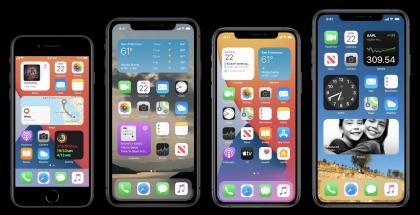 iOS 14 tuo uudistuneen kotinäkymän.