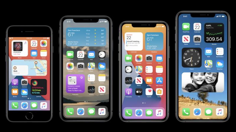 iOS 14 toi uudistuneen kotinäkymän.
