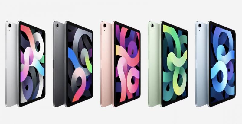 Nykyinen syksyllä 2020 esitelty 4. sukupolven iPad Air.
