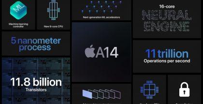 Applen A14 Bionicista kertomia faktoja.