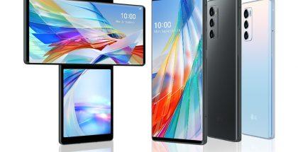 LG Wing sisältää 90 astetta kääntyvän rakenteen, joka paljastaa 6,8 tuuman päänäytön alta 3,9 tuuman toisen näytön. Se jäi LG:n viimeiseksi erikoiseksi älypuhelimeksi.