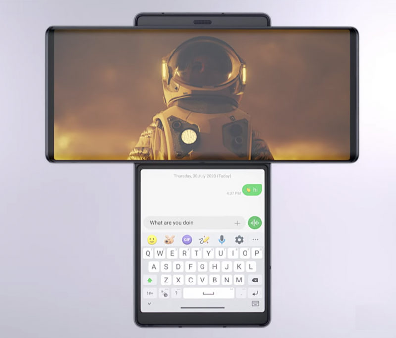 Wingin toista näyttöä voi käyttää esimerkiksi viestittelyyn samalla, kun video toistuu täydessä koossa päänäytöllä.
