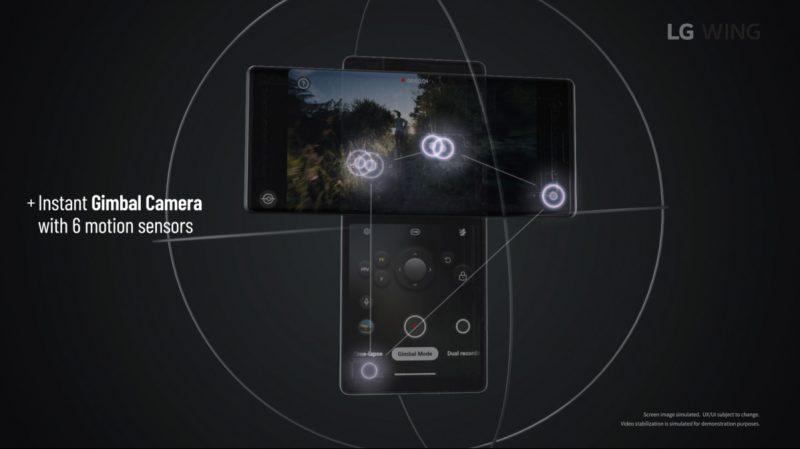 Wingin toinen erikoisuus on Gimbal Motion -kamera.
