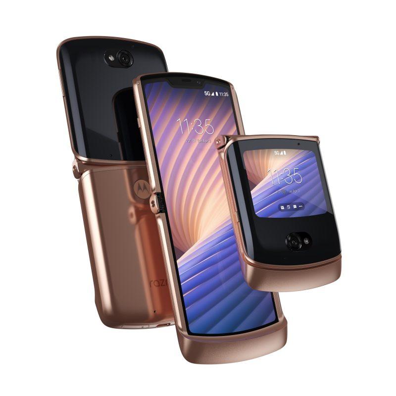 Motorola razr 5G, Blush Gold.