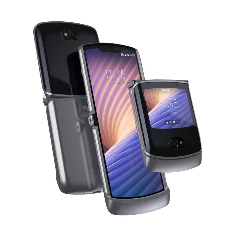 Motorola razr 5G, Mercury Gray.