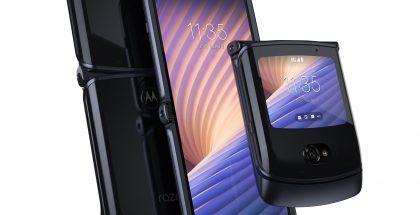 Taittuvanäyttöinen Motorola razr 5G, Polished Graphite -värissä.