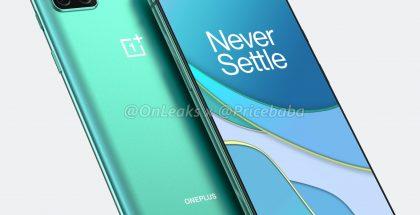 OnePlus 8T:n mallinnos. Kuva: OnLeaks / PriceBaba.