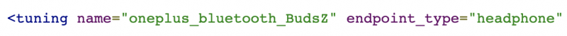 OnePlus Buds Z mainittu.