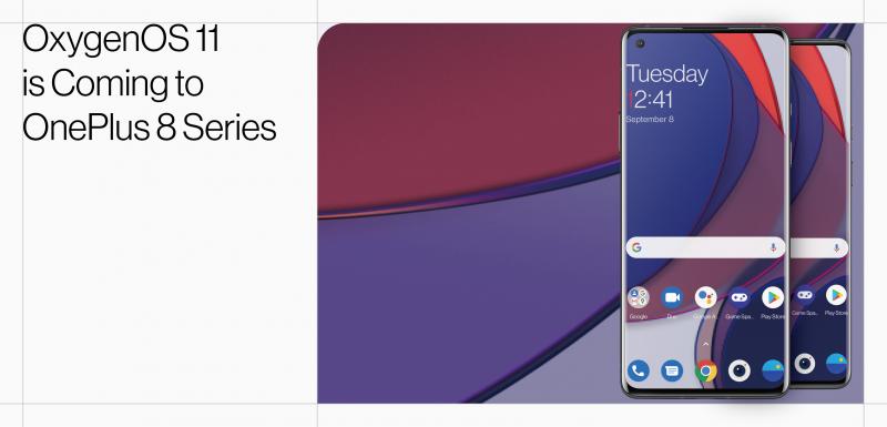 OxygenOS 11:n Open Beta -testiversio on julkaistu OnePlus 8 -sarjan älypuhelimille.