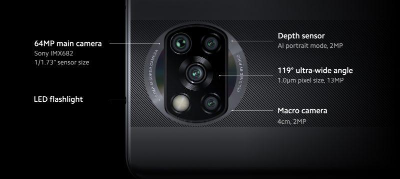 Poco X3 NFC:n takakamerat.