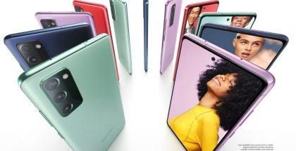 Samsung Galaxy S20 FE eri väreissä. Kuva: Evan Blass / evleaks.