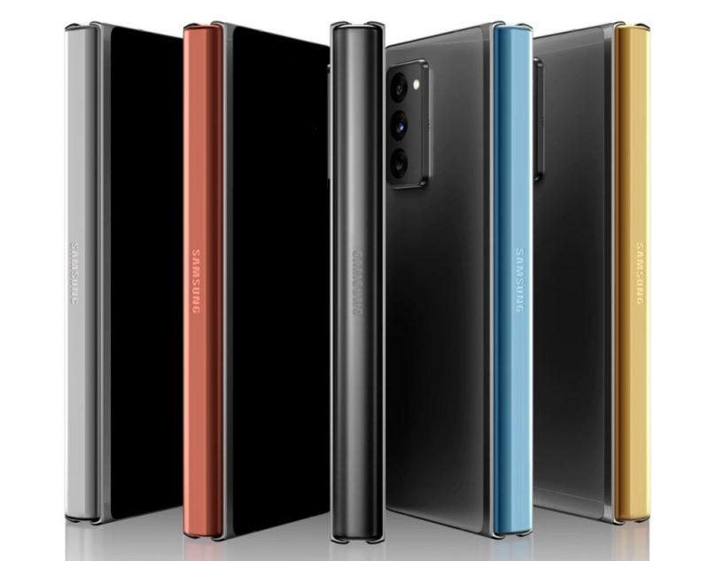 Galaxy Z Fold2:n Samsungin verkkokaupasta saatavat erikoisvärivaihtoehdot saranalle.
