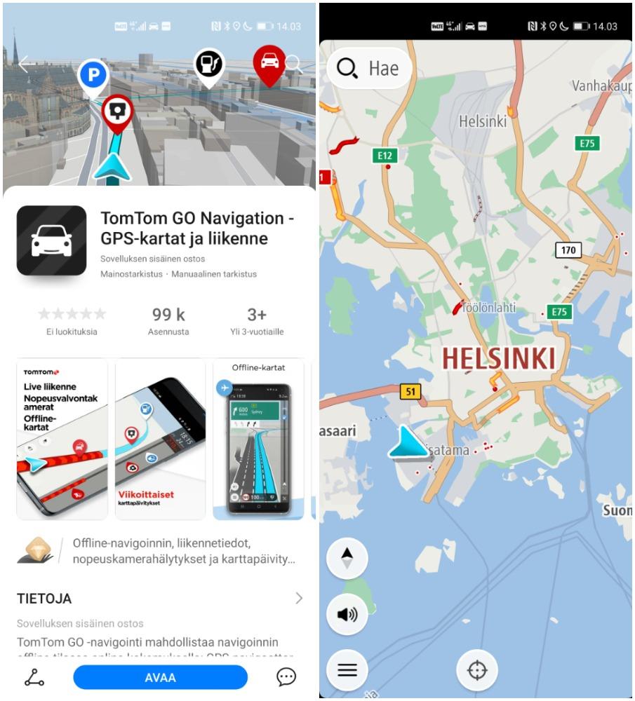 TomTom GO Navigation.