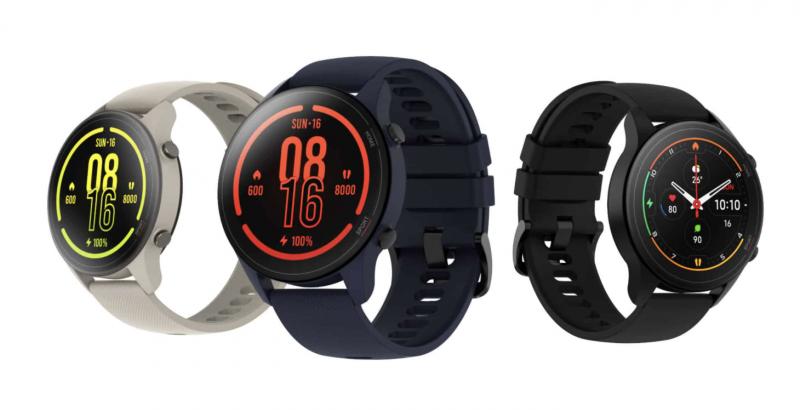 Xiaomi Mi Watch eri väreissä.
