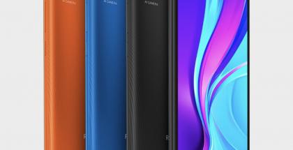 Redmi 9C NFC:n eri värivaihtoehdot.
