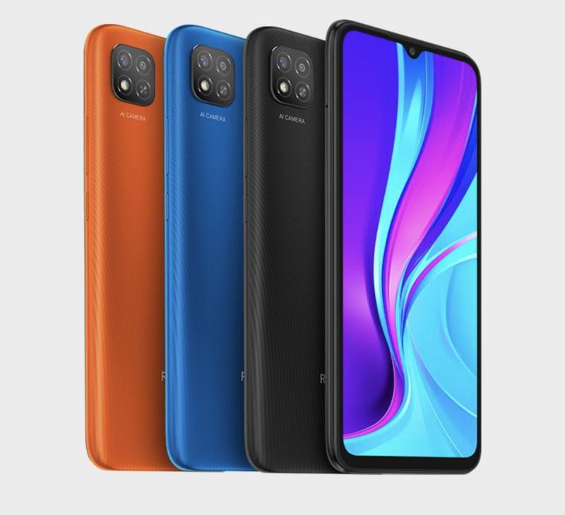 Redmi 9C NFC eri väreissä.