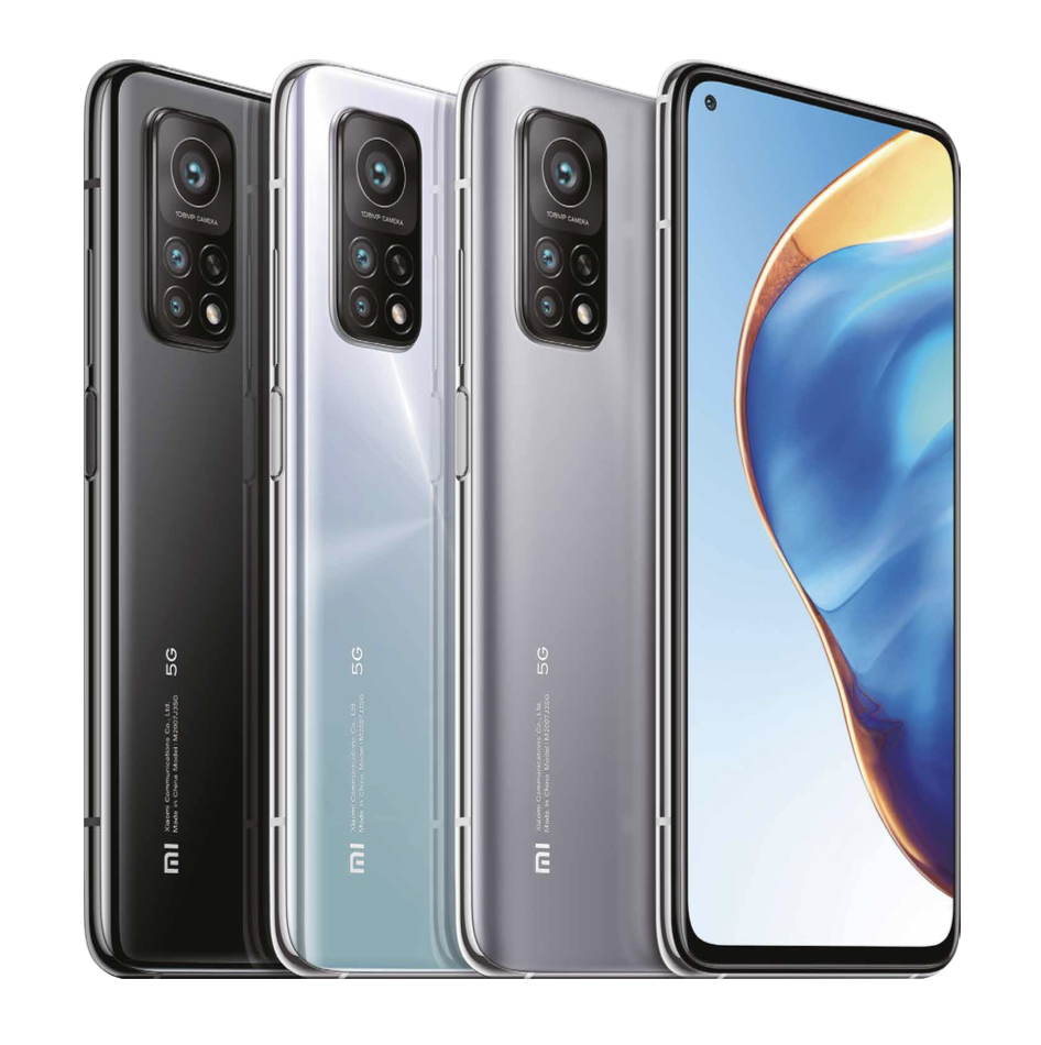 Syksyn 2020 Xiaomi Mi 10T Pro eri väreissä.