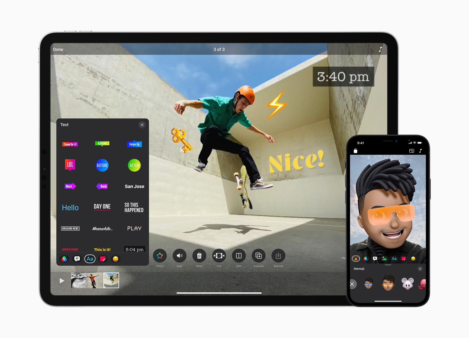 Clips saa muun muassa uudistuneen käyttöliittymän sekä iPhonessa että iPadilla.