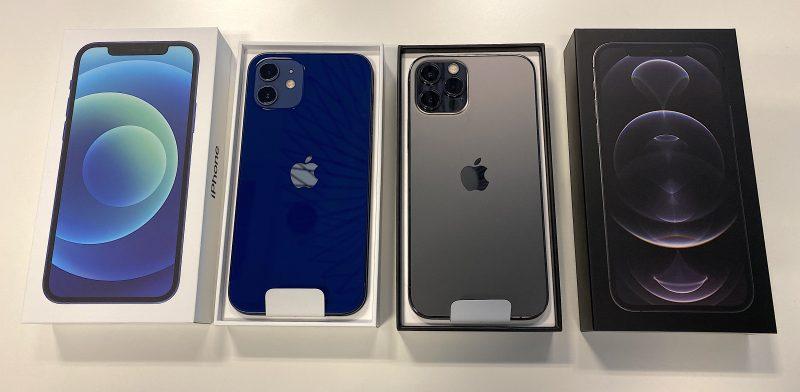 Testiimme saapuivat sininen iPhone 12 Pro ja grafiitti iPhone 12 Pro.
