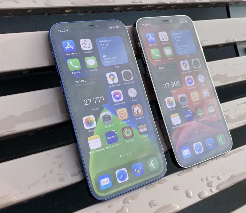 iPhone 12 ja iPhone 12 Pro.