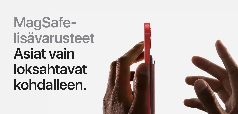 MagSafe on iPhone 12 -puhelinten uutuus.