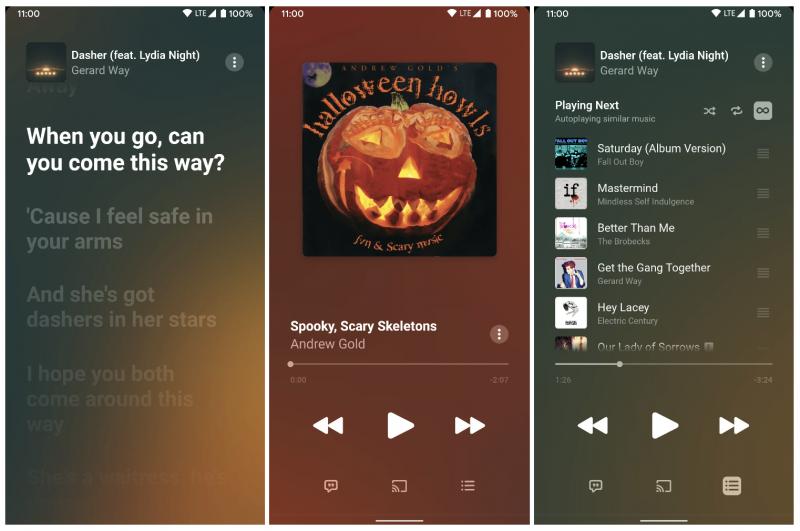 Apple Music 3.4 -sovellus Androidille. Kuvat: 9to5Google.
