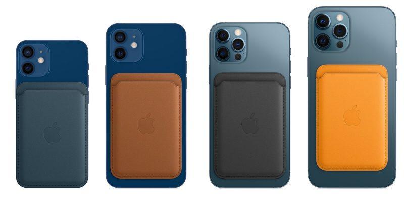 Applen nahkalompakko MagSafella on saatavissa neljänä eri värivaihtoehtona.