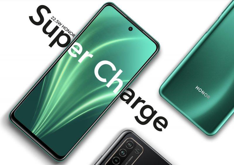 Honor 10X Lite tukee 22,5 watin SuperCharge-pikalatausta.